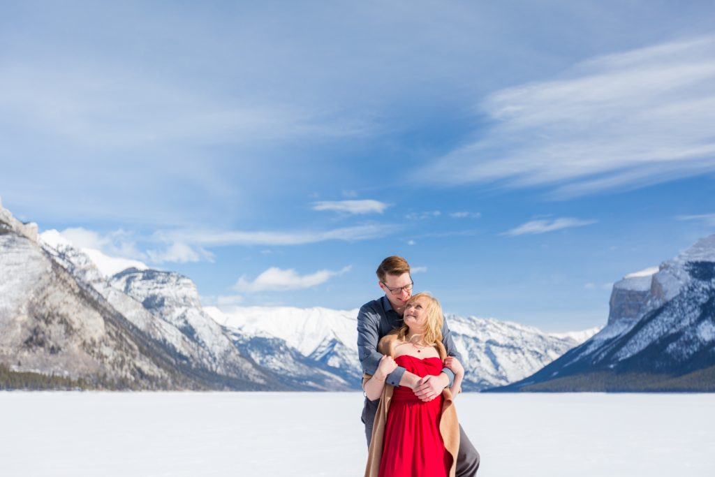 morning engagement session banff