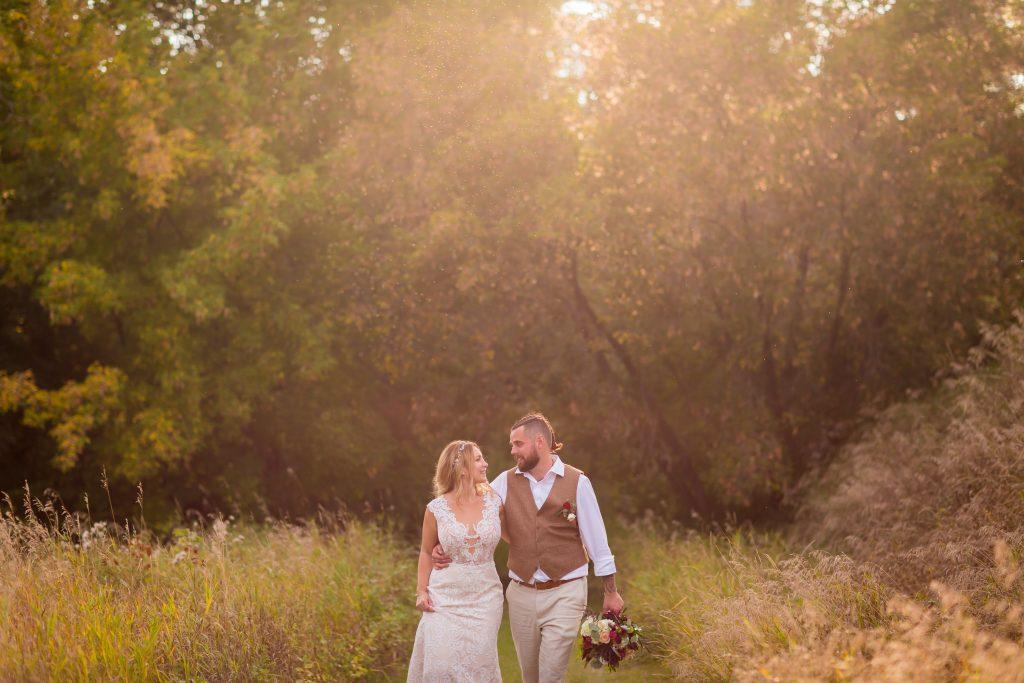 downtown river valley wedding photos