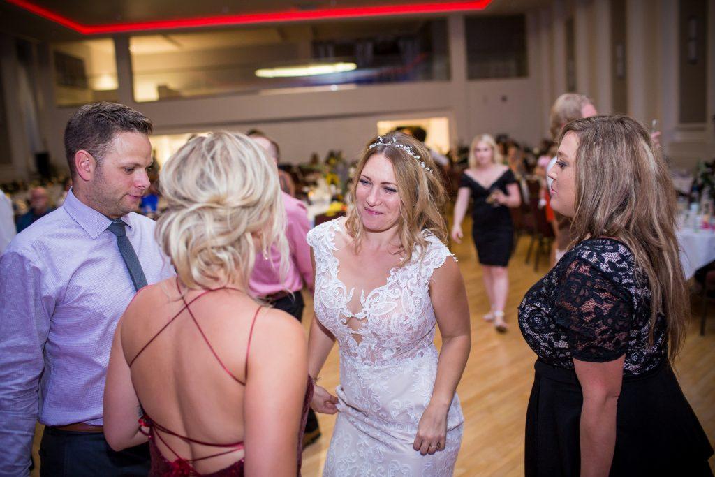 bride dancing to The Matadors band