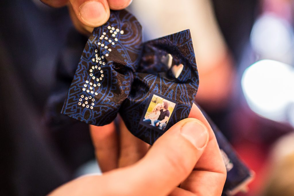 custom bow tie made specially for the groom and his groomsmen