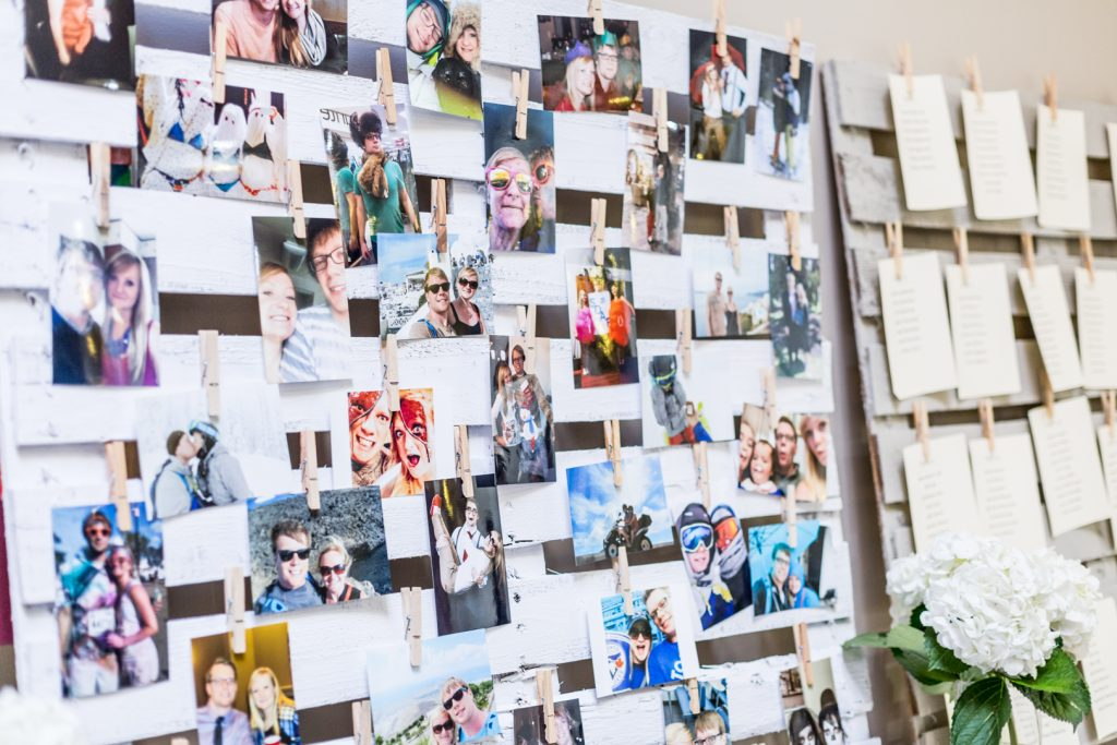Wedding photo collage wall