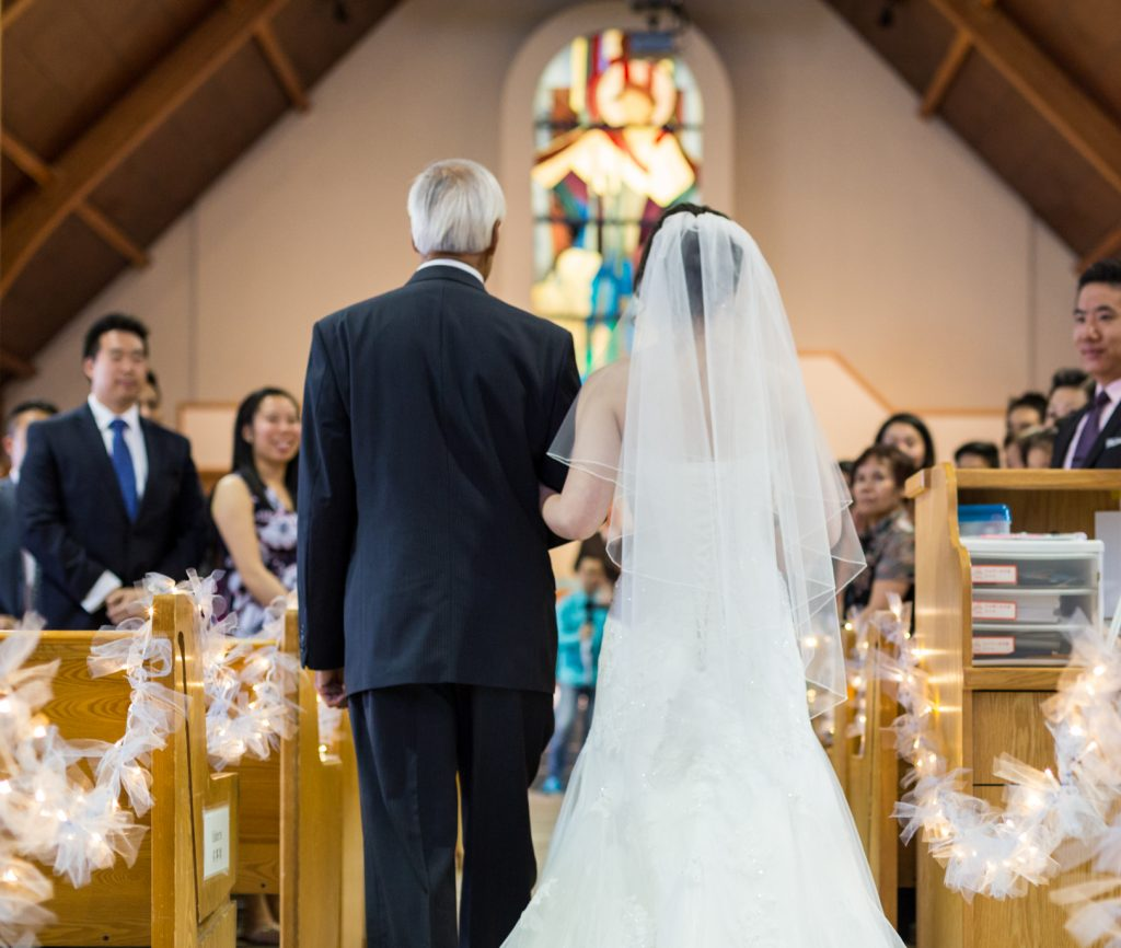 Edmonton Chinese Baptist wedding ceremony
