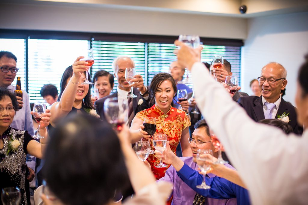 Chinese wedding table toasts