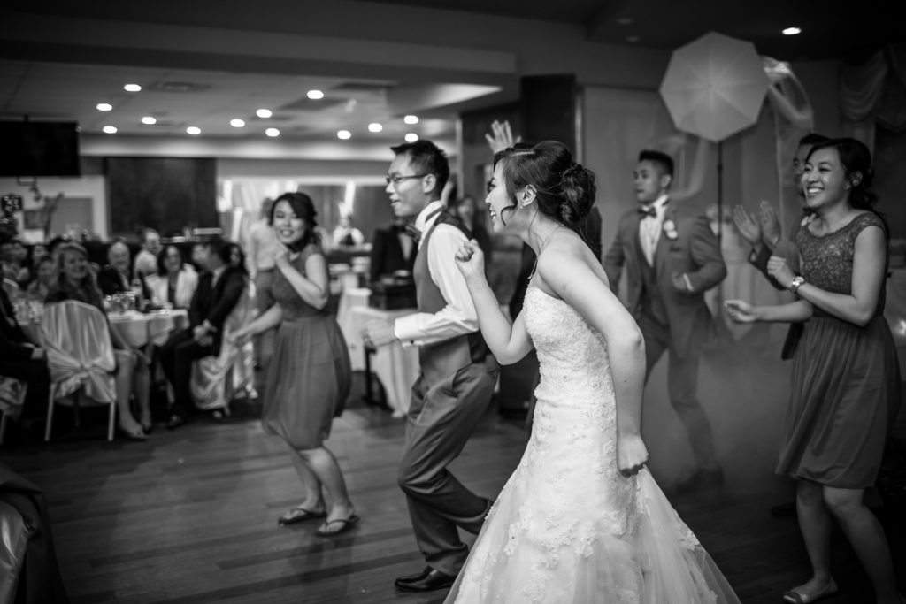 Choreographed first dance with the bride and groom and their wedding party