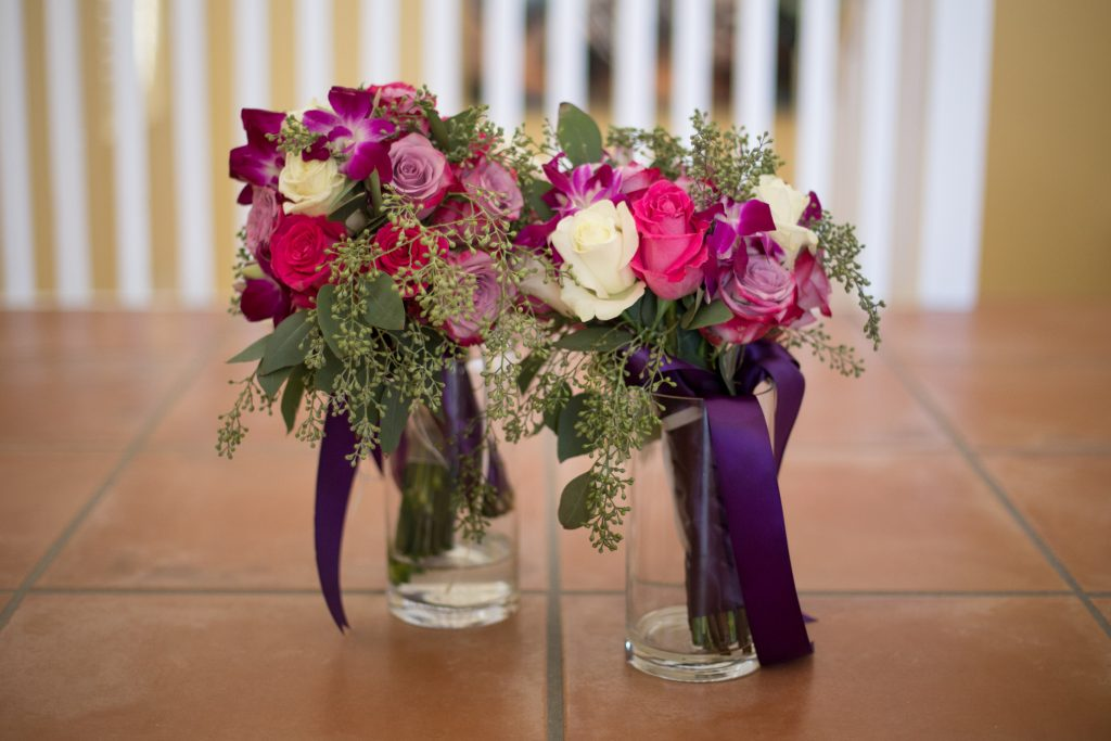 Fresh flower bouquets for Antigua destination wedding, flowers by St James Club resort