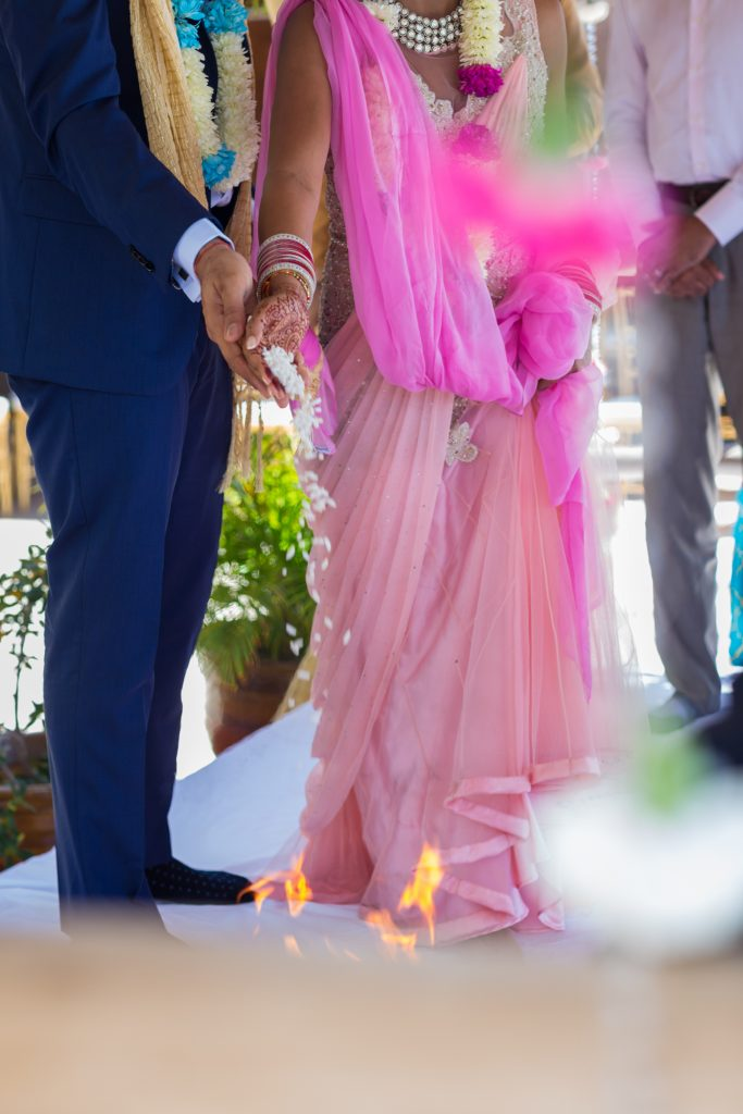 Hindu destination wedding ceremony in Antigua