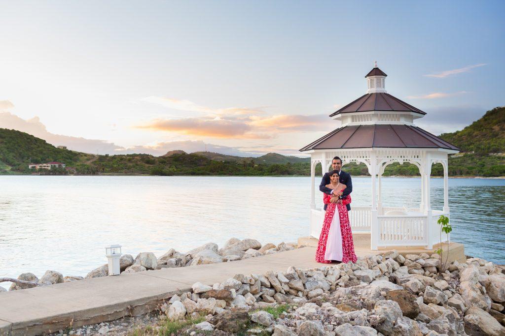 St James Club Antigua destination wedding portraits