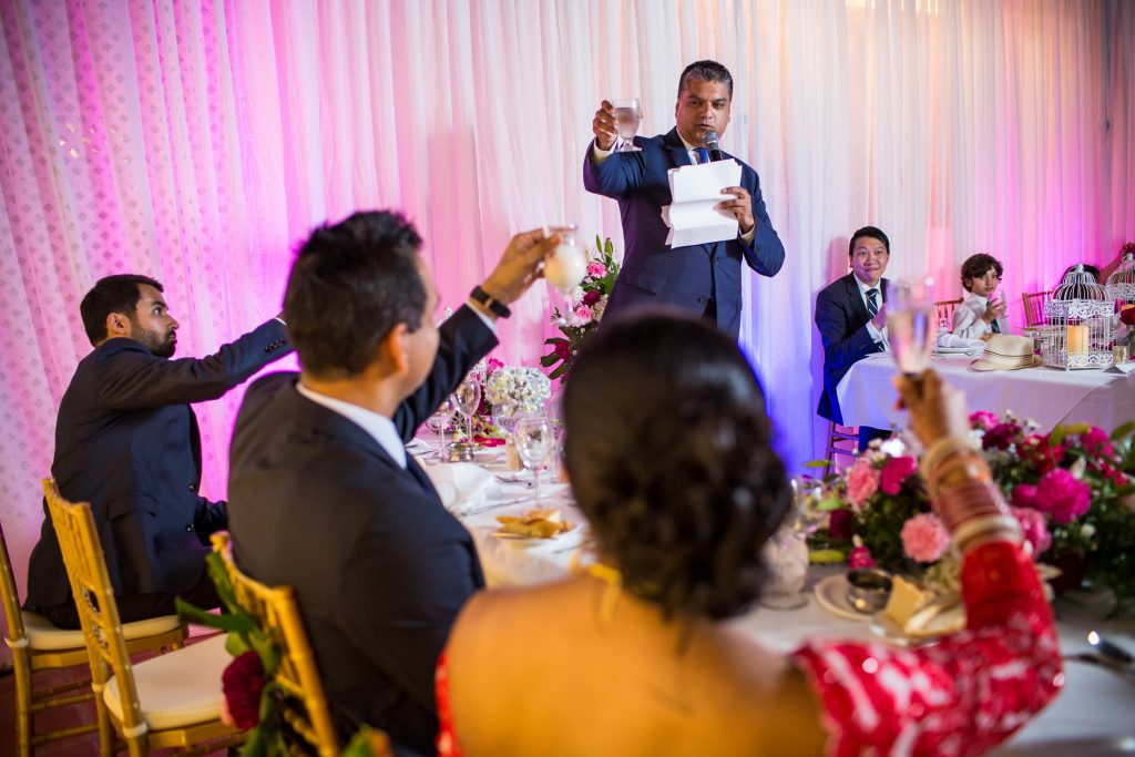 Best man wedding speech during destination wedding in Antigua