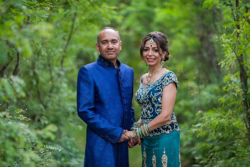 Indian wedding portraits at Moonlight Bay Centre Wabamun