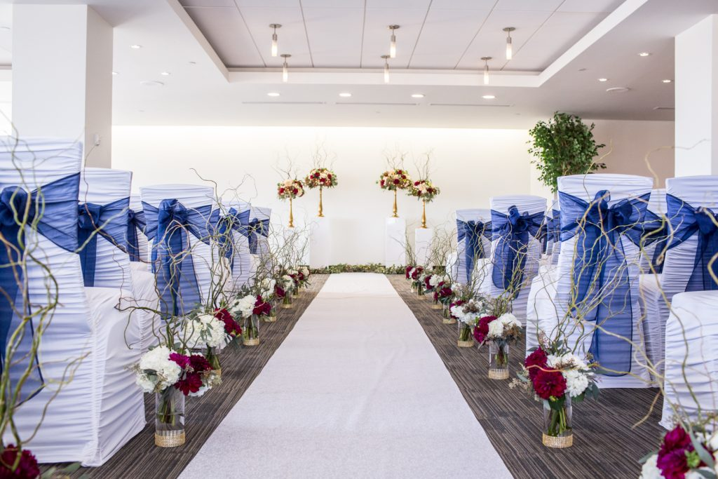 Shaw Conference Centre Riverview room wedding ceremony photos