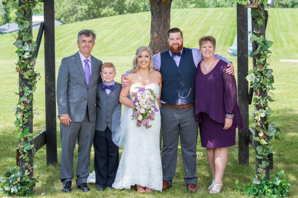 Summer wedding at Snow Valley family portraits