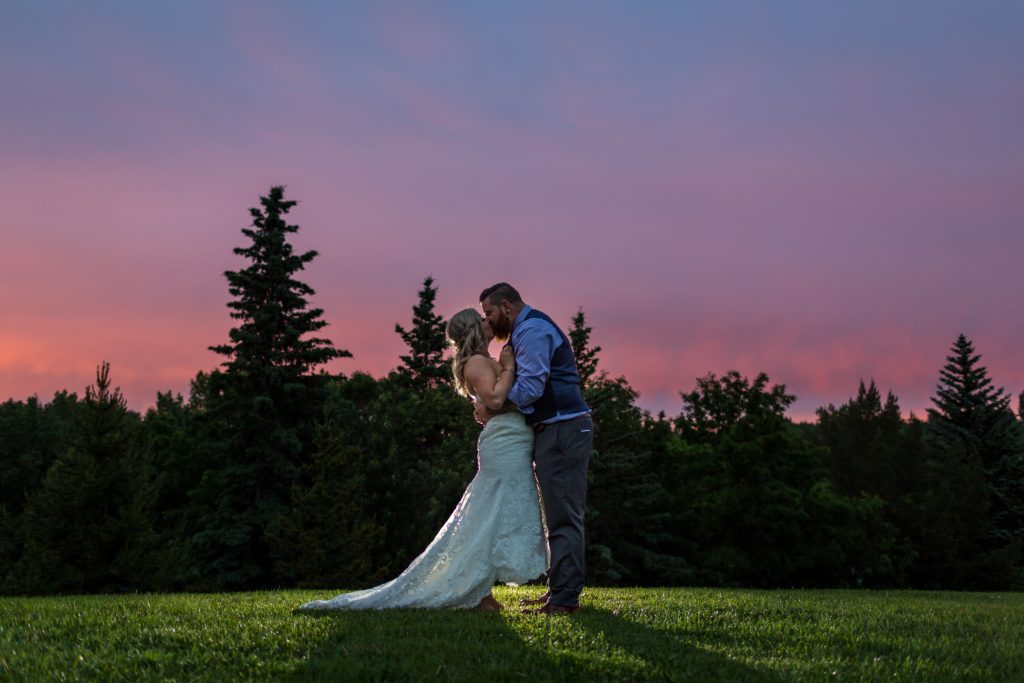 Summer sunset wedding portraits at Snow Valley