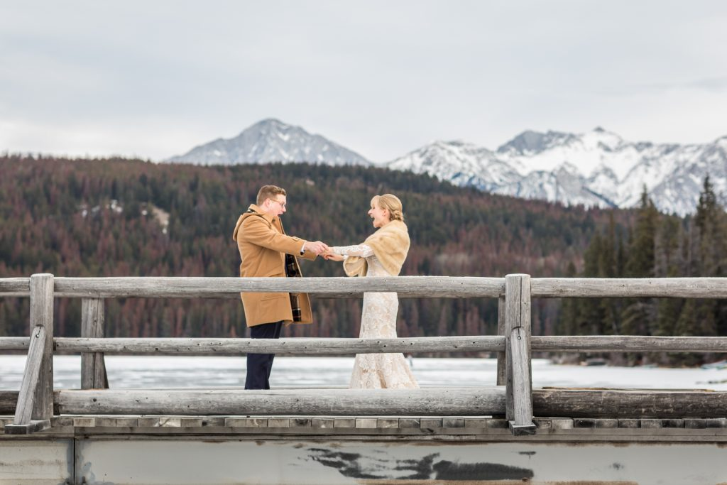 Pyramid Lake bridge is the perfect location for a first look before the wedding