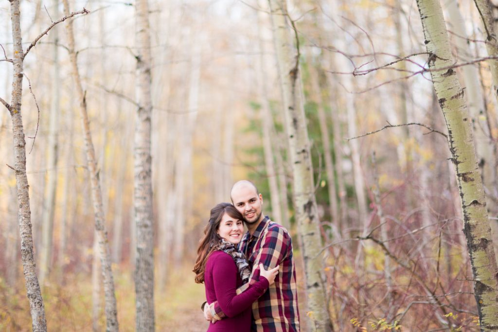 Edmonton Autumn Engagement Photos in the river valley