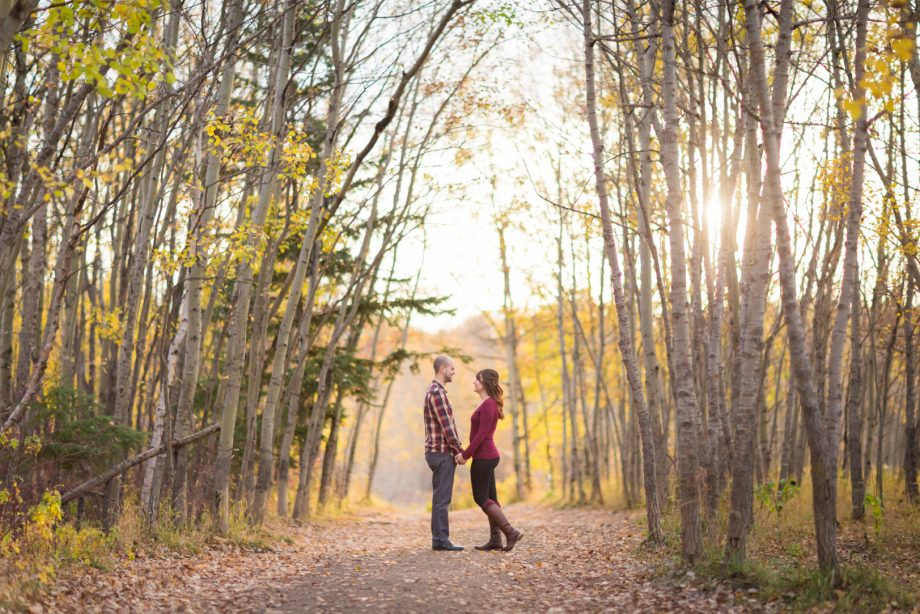 Edmonton Autumn Engagement Photos – Angela & Chris