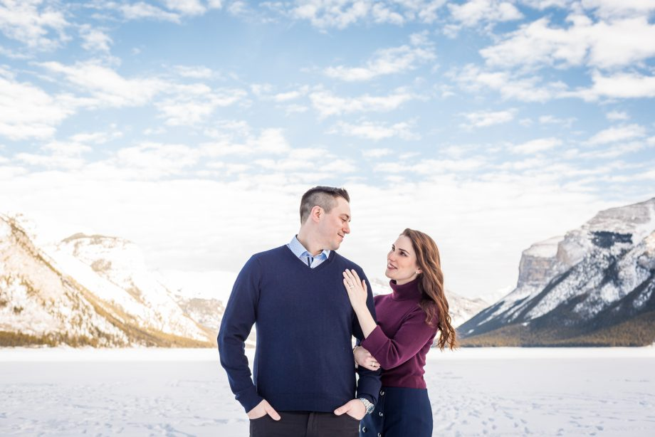Banff Winter Engagement Pictures – Janelle & Rodney