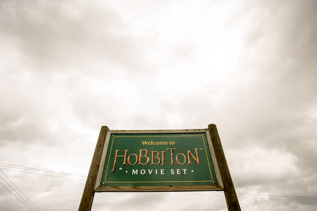 Hobbiton Movie Set Tour Sign