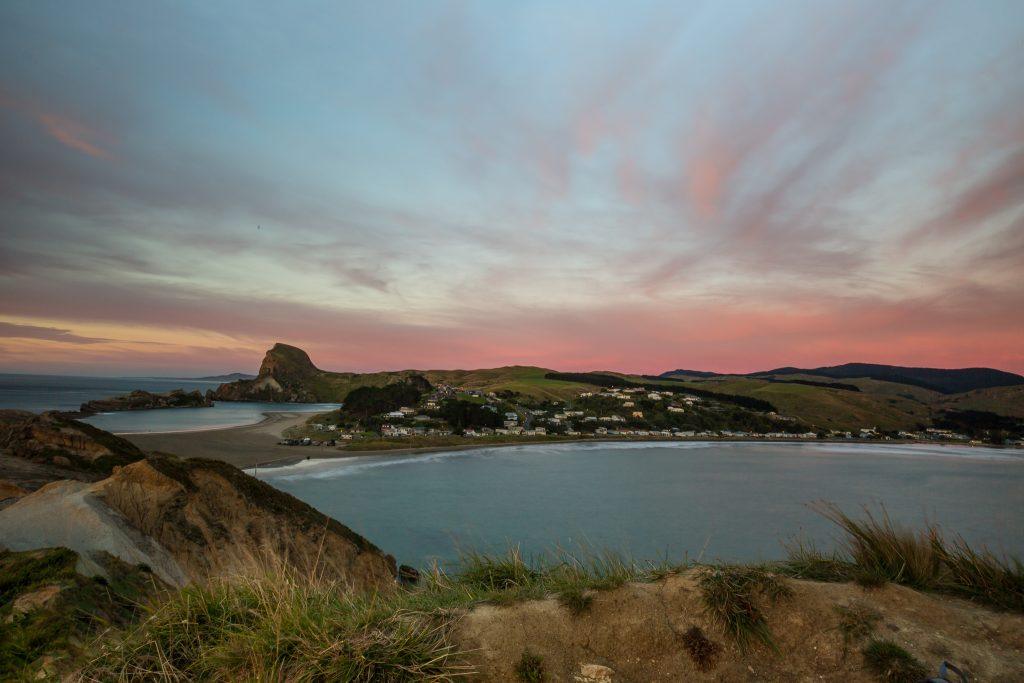 Castlepoint village town sunrise picture