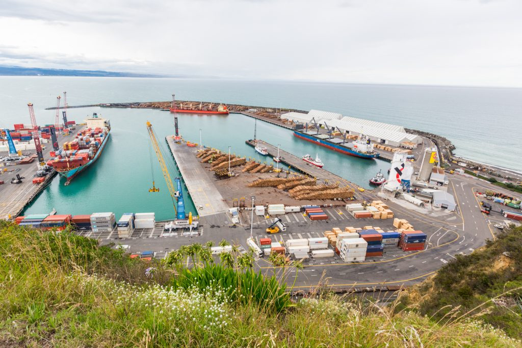 a picture of Napier port bay