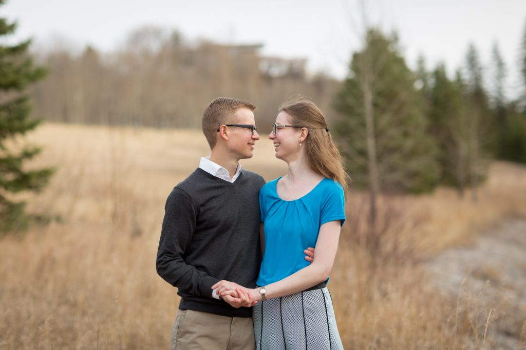 Outdoor autumn engagement locations Edmonton