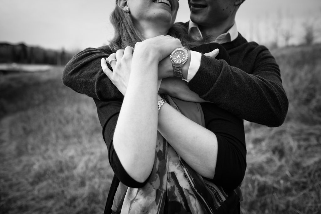 Edmonton in home engagement photo session