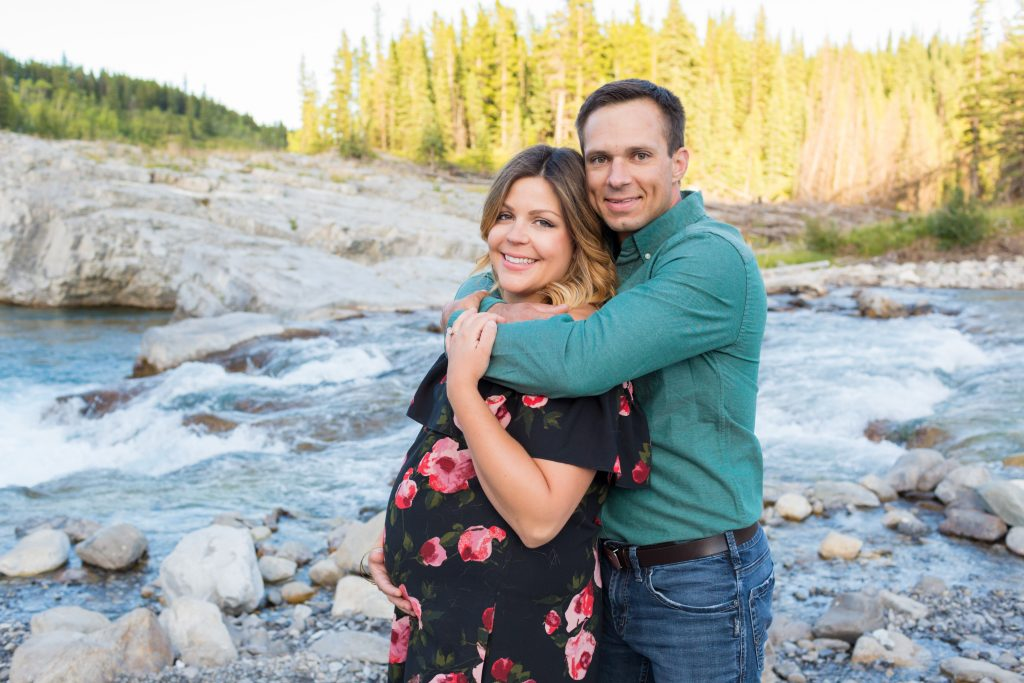 Elbow River Falls maternity photography