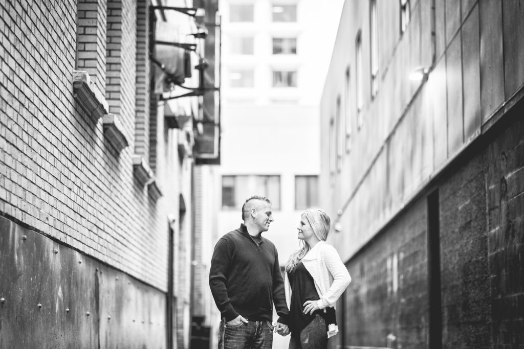Craft brewery engagement photos Edmonton
