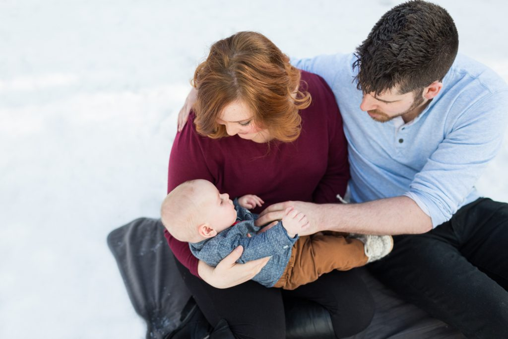 Edmonton Winter Family Photos Outdoor