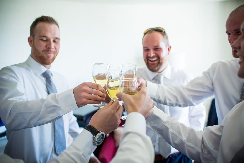 Groomsmen getting ready for Mosaic Centre Wedding in Edmonton
