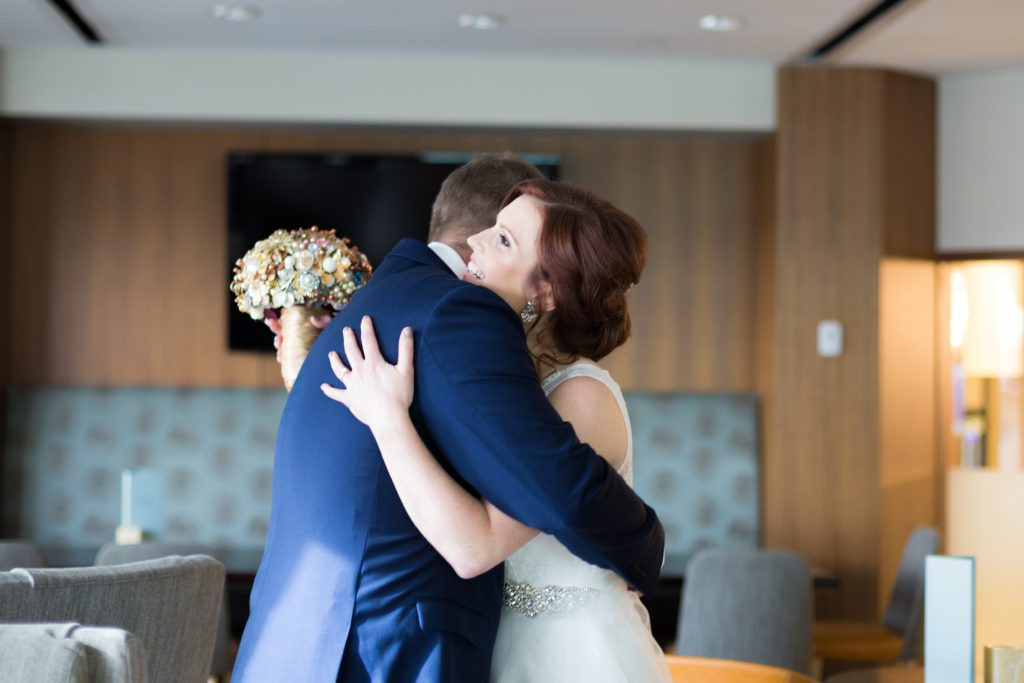 Mosaic Centre Wedding portraits following first look