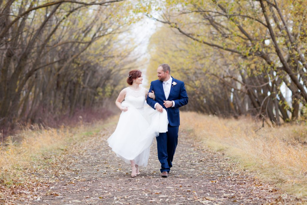 Autumn wedding portraits Edmonton