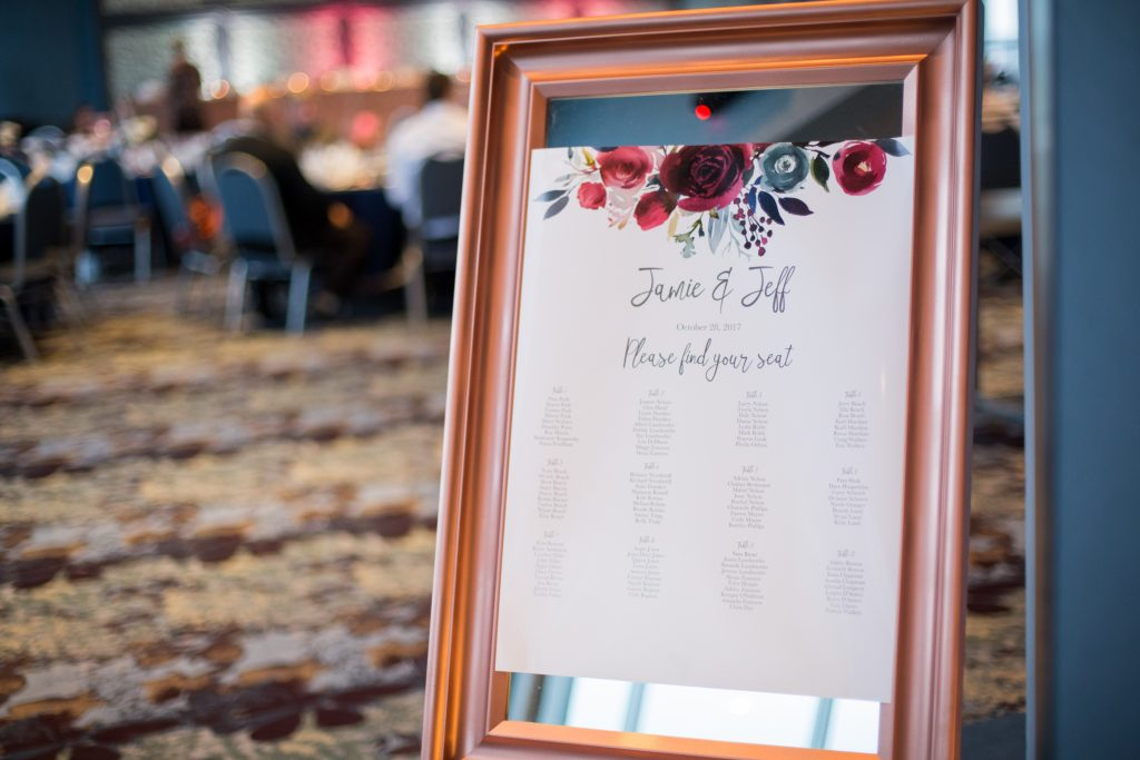 Autumn wedding seating chart