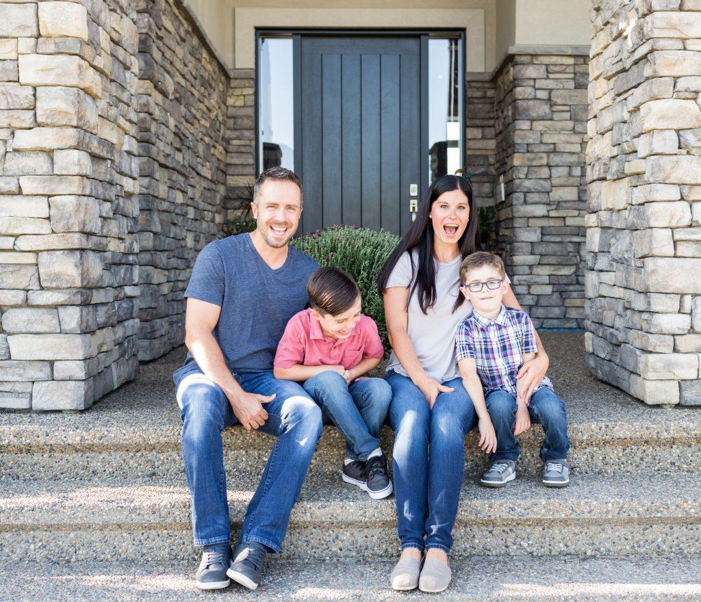 Outdoor Family Photos at home