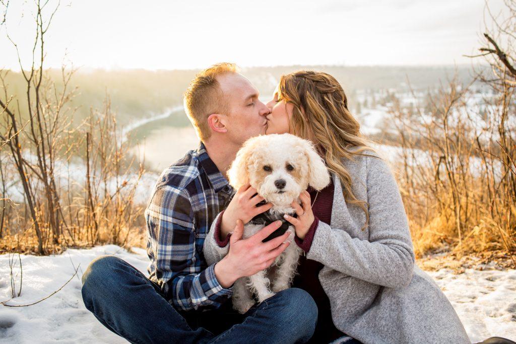 Dog engagement photos Edmonton