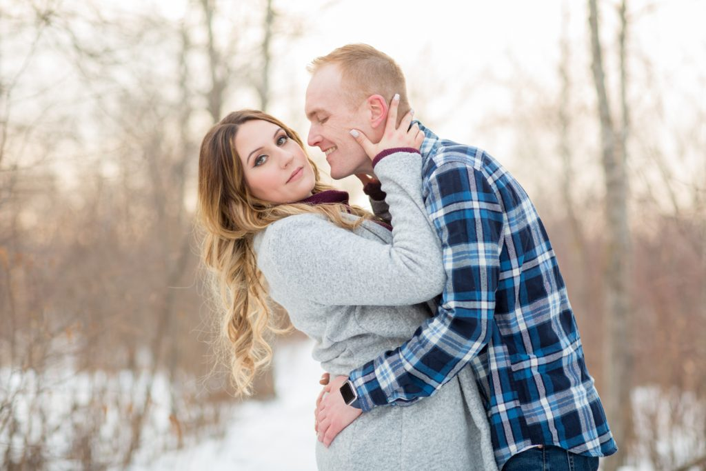 Winter engagement photo locations Edmonton
