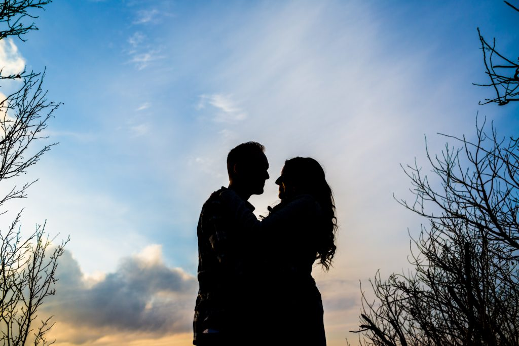 Best edmonton sunset engagement location Strathcona Science Park