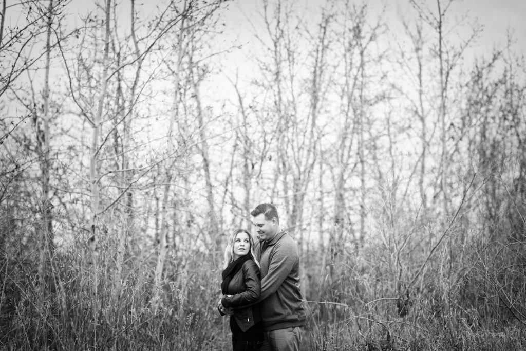 Romantic engagement photos in Edmonton