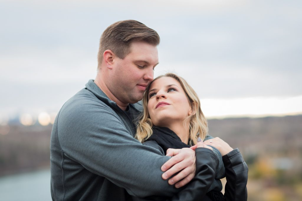 Romantic Strathcona science park engagement photos