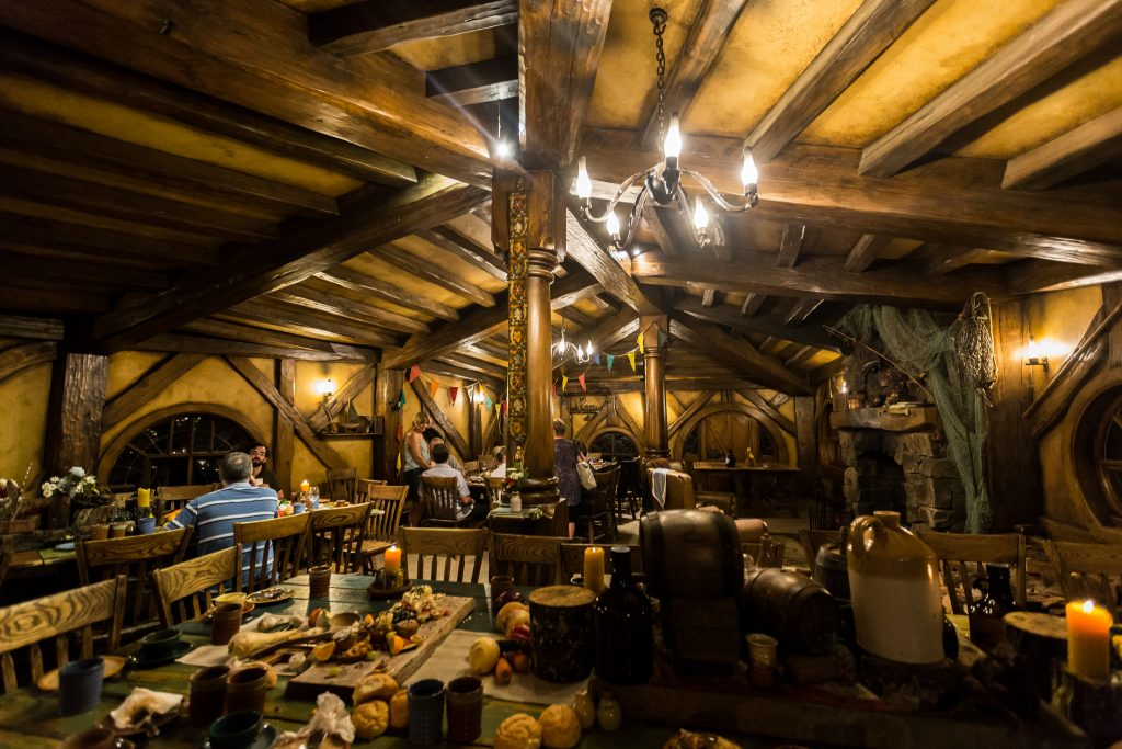 Inside The Green Dragon Inn Hobbiton