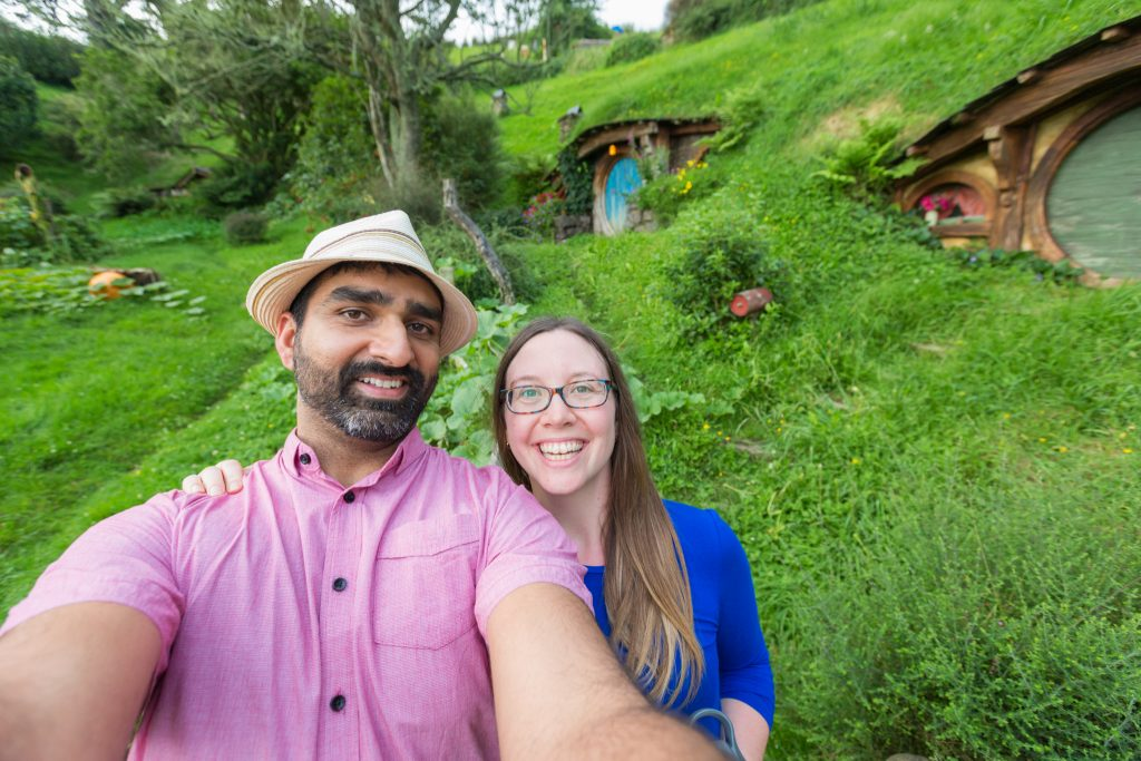 Selfie At Hobbiton Movie Set Evening Banquet Tour