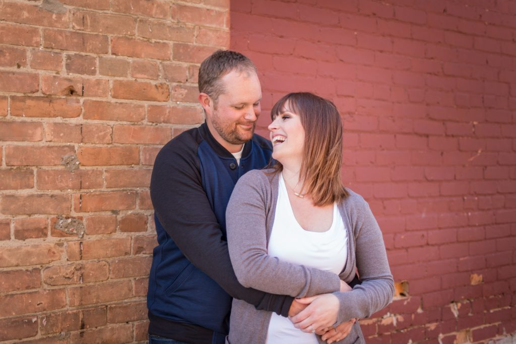 Wetaskiwin engagement photos downtown