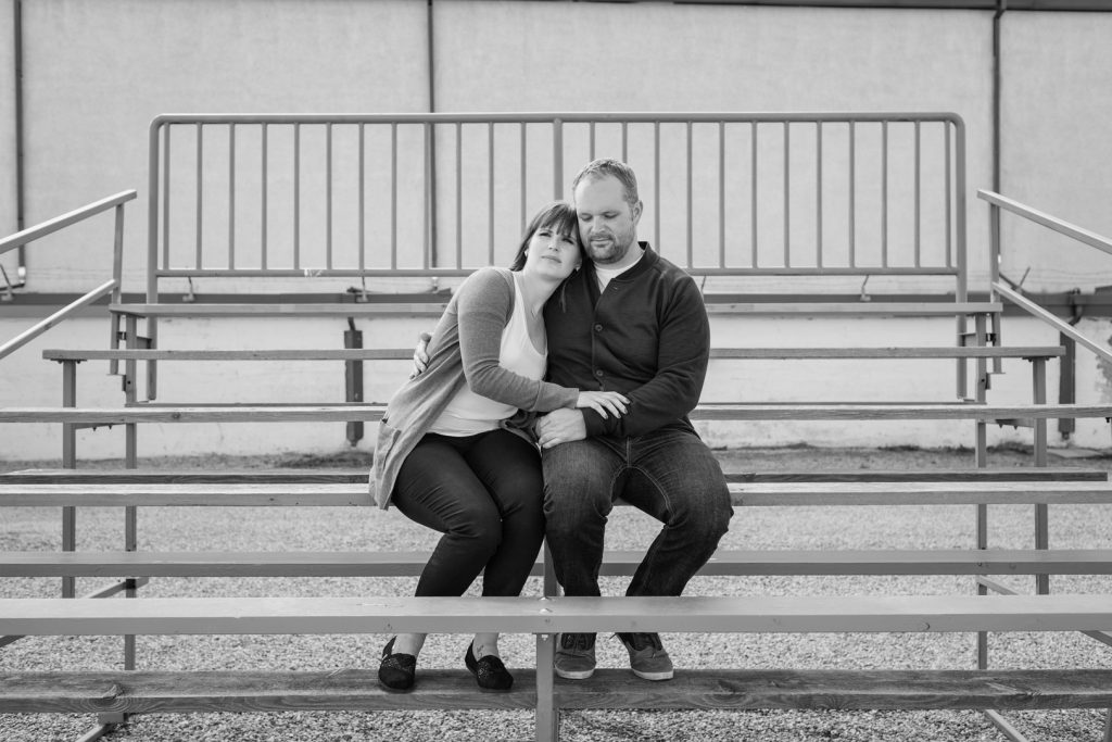 Wetaskiwin engagement photos at rodeo grounds