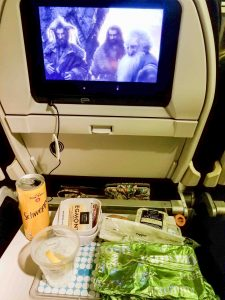 Meal service Air New Zealand