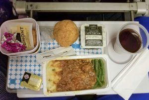Dinner option on Air New Zealand