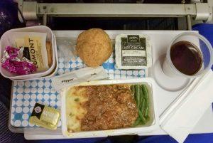 Dinner option on Air New Zealand