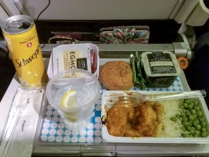 Chicken meal option Air New Zealand