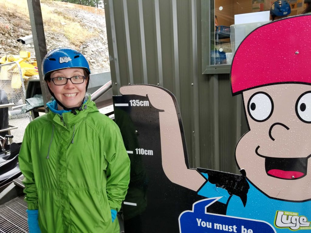 Queenstown luge track height restriction