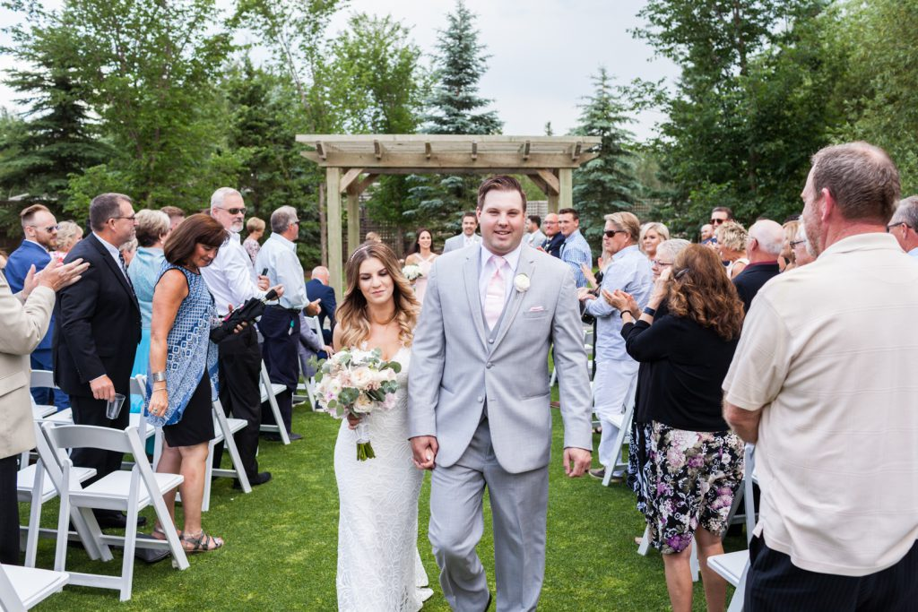 Wedding recessional photos