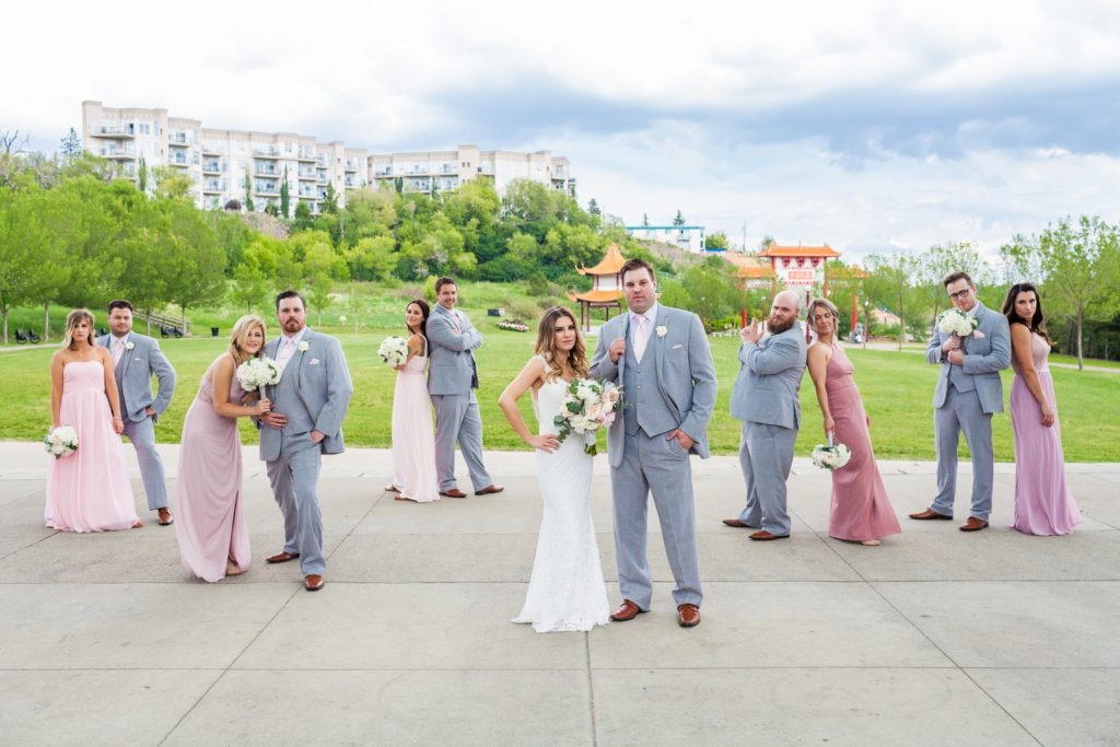Fun wedding party photos
