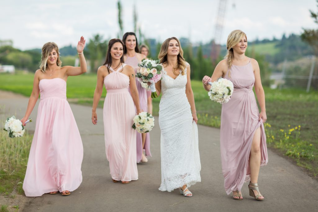 Edmonton river valley bridesmaids photos